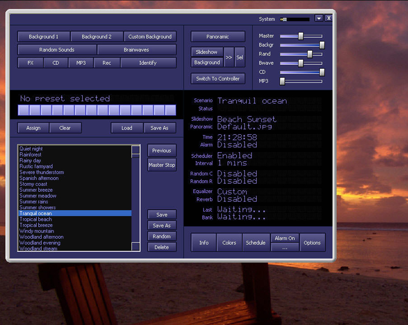 Click to view Atmosphere Deluxe( PC Nature Sounds Generator) 7.0 screenshot