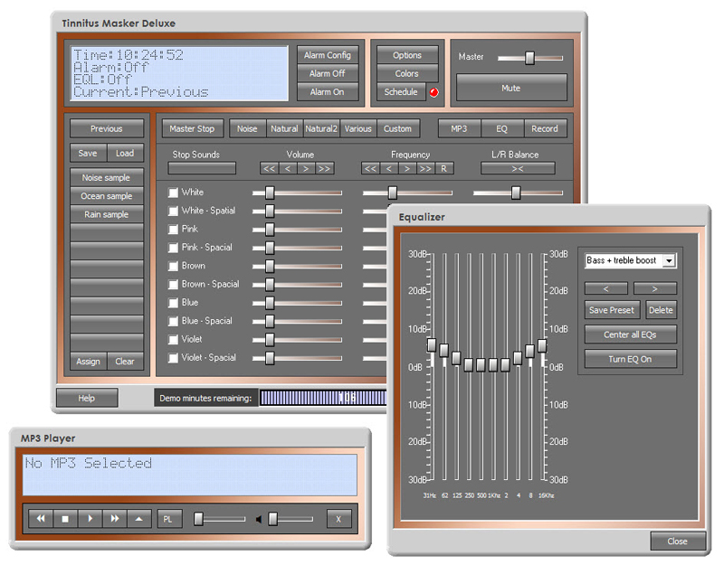 Click to view Tinnitus Masker Deluxe 6.2 screenshot